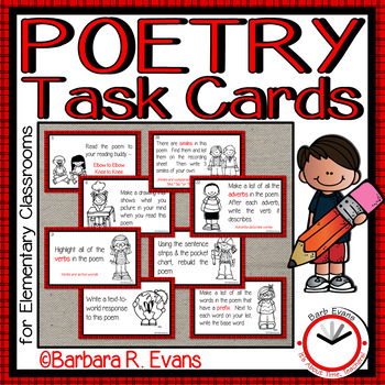 POETRY TASK CARDS Poetry Unit Poetry Elements Grammar Literacy Centers