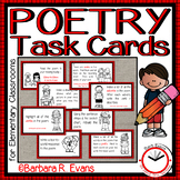 POETRY TASK CARDS: Poetry Unit, Poetry Elements, Grammar,