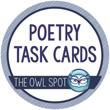 Poetry Task Cards for Grades 4, 5 and 6