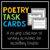 Poetry Task Cards--Quick Creative Writing for High School