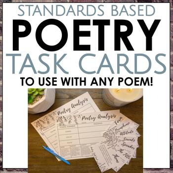 Poetry Task Cards for Middle School and High School ELA