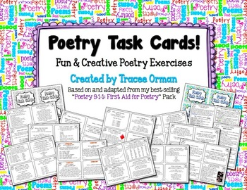 poetry task cards to practice creative writing language skills. Black Bedroom Furniture Sets. Home Design Ideas
