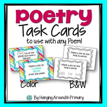 Poetry Task Cards for Any Poem