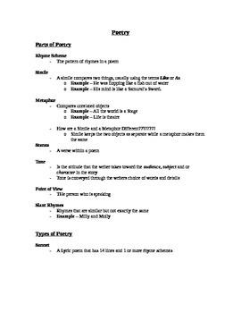 Poetry Teacher Notes