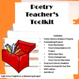 Poetry Teacher Toolkit for Teaching Poetry (Use With Any P