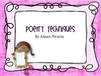 Poetry Techniques {Freebie}