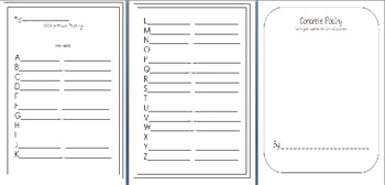 Poetry Templates {7 types of poems}