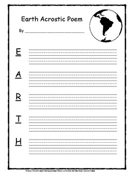 Poetry Templates For Kids