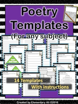 Poetry Templates (for any subject)