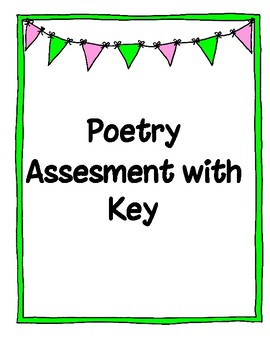Poetry Term Assessment with Key