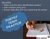 Poetry Term Identification Practice