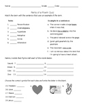 Poetry Terms & Assessment