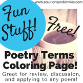 Poetry Terms Coloring Page