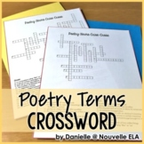 Poetry Terms Criss Cross Puzzles