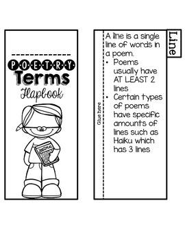 Poetry Terms Flapbook {Freebie!}