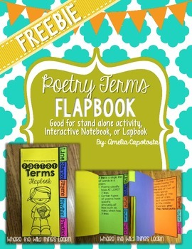 Poetry Terms Flapbook {Freebie!}