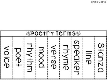 Poetry Terms Flip Book- Interactive Notebook