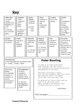 Poetry Terms Flipbook