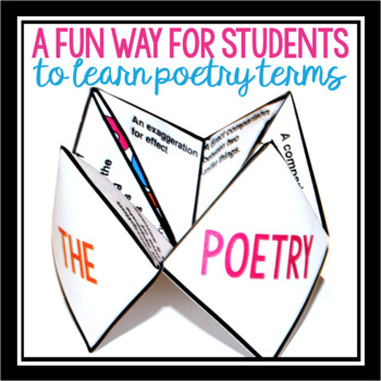 POETRY TERMS ACTIVITY: COOTIE CATCHER