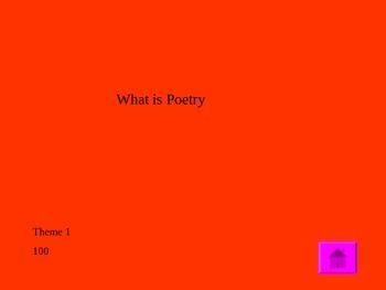 Poetry Terms Jeopardy