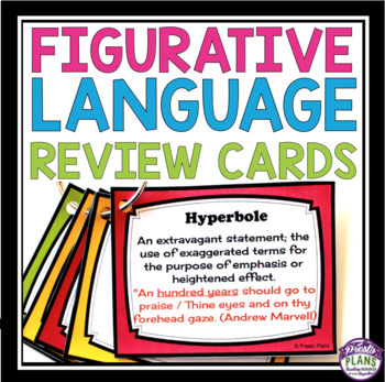 FIGURATIVE LANGUAGE POETRY TERMS FLASHCARDS