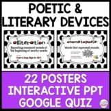 Poetic and literary devices posters and PowerPoint review