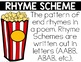 Poetry Terms Posters (Popcorn Themed)
