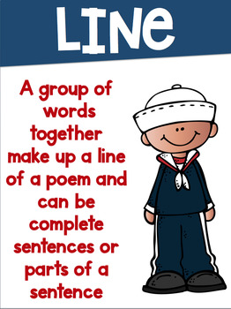 Poetry Terms Posters with a Nautical Theme