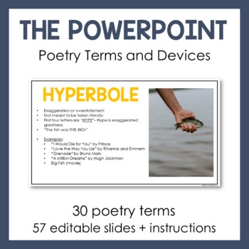 Poetry Terms PowerPoint and Printable Packet