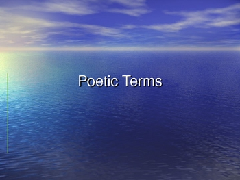 Poetry Terms Powerpoint and Assessment