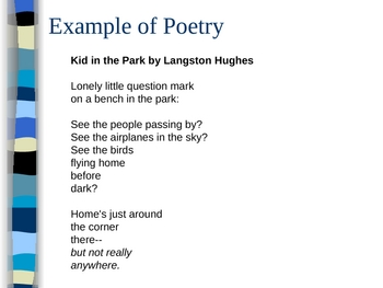 Poetry Terms Powerpoint with Examples