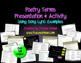 Poetry Terms Presentation with Song Lyric Examples