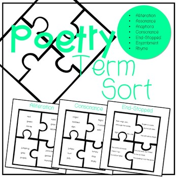 Poetry Terms: Puzzle Sort
