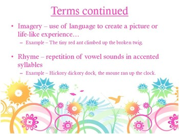 Poetry Terms Slideshow