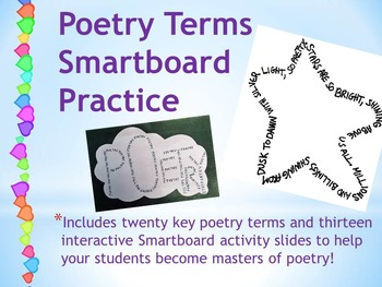 Poetry Terms Smartboard Practice