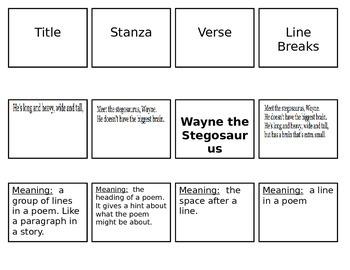 Poetry Terms Sort