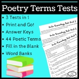Poetry Terms Tests