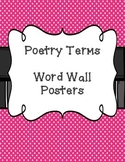 Poetry Terms Word Wall Posters