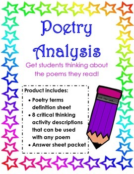 Poetry Terms and Analysis