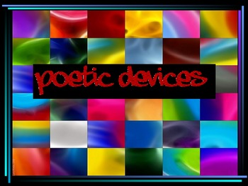 Poetry Terms and Literary Elements PPT