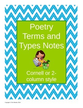 Poetry Terms and Types Notes