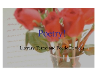 Poetry Terms applied to Langston Hughes and Wordsworth poems