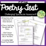 Poetry Test-Identification, Application & Written Response