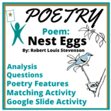 Poetry Test Passage and Summary Activity: Nest Eggs by R.L. Stevenson