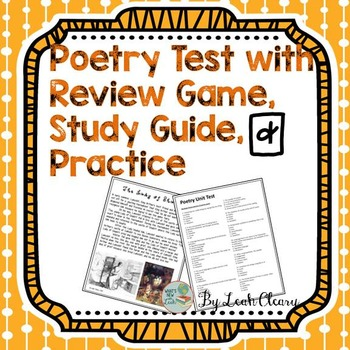 Poetry Test, Review Game, and Practice