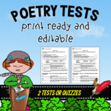 Poetry Tests ~ Editable