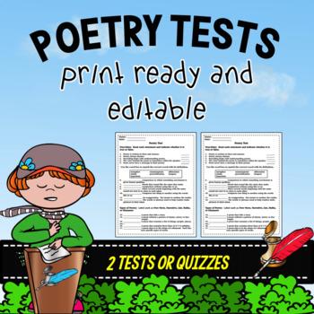 Poetry Tests ~ Editable