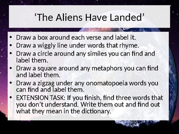 Poetry - The Aliens Have Landed