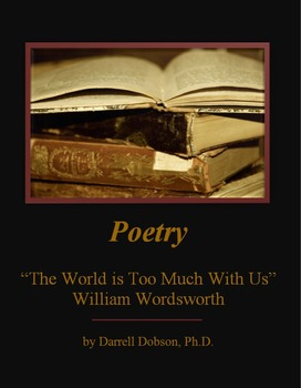 """""""The World is too Much With Us"""" -- William Wordsworth -- Poetry"""