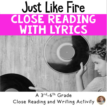 """Poetry They Will LOVE: """"Just Like Fire"""" by Pink"""